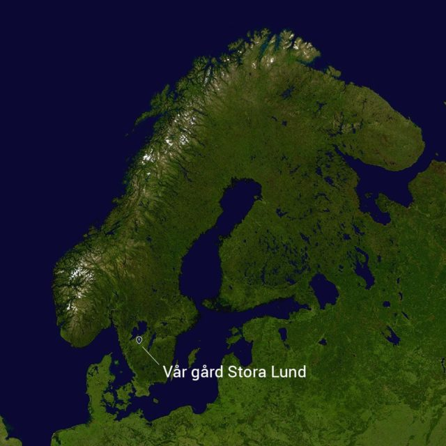 Stora Lund on the map