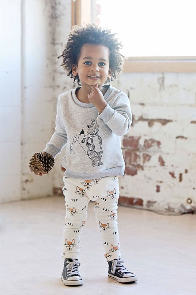 Mickey Rose - Jumper Lilla björn & Leggings Räv