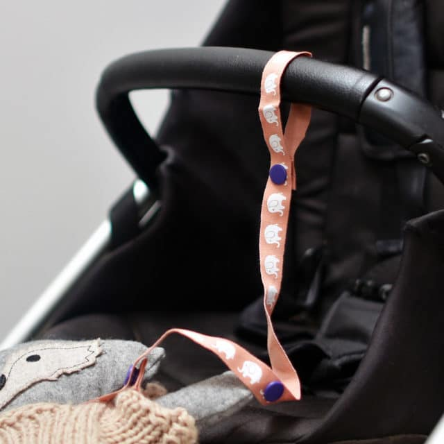 By Claudia - Toy Strap Attached to Stroller