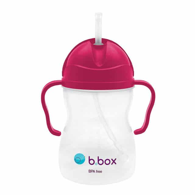 b.box - Mugg med smart sugrör - Raspberry