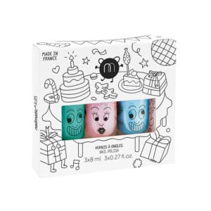 Nailmatic Kids - Giftfritt Nagellack, Trepack Party